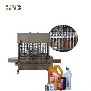 دستگاه پر کردن بطری مایع اتوماتیک برای پر کردن بطری چشم انداز ظرفیت بسته شدن آب بندی / پرکننده