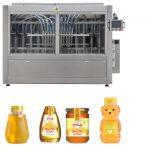 اتوماتیک سرو سیر پیستونی نوع سس عسل جام با چسبندگی بالا مایعات پر کننده چسبندگی خط دستگاه برچسب زدن