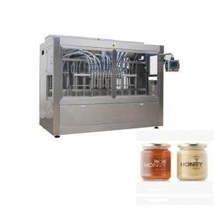 دستگاه بطری بسته بندی عسل شیشه ای پر کننده ارزان قیمت